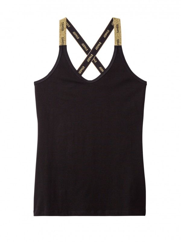 10Days Basic Wrapper Top Logo schwarz/gold