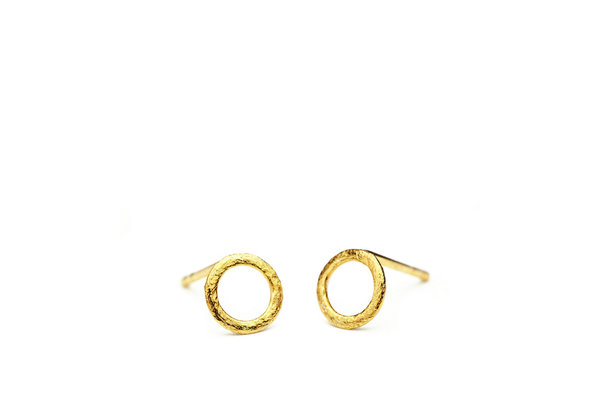 Pernille Corydon Single Circle Earsticks gold