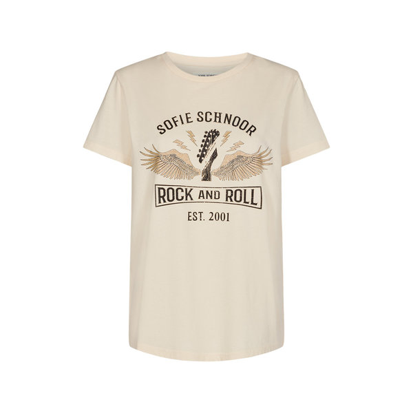 Sofie Schnoor T -Shirt Rock and Roll off white