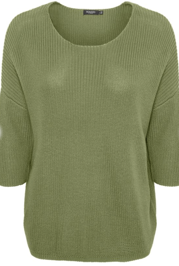 Soaked in Luxury Tuesday Cotton Jumper Olivine